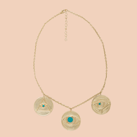Gypseye Shai Solid Necklace - Turquoise