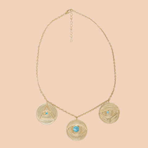 Gypseye Shai Solid Necklace - Blue Topaz