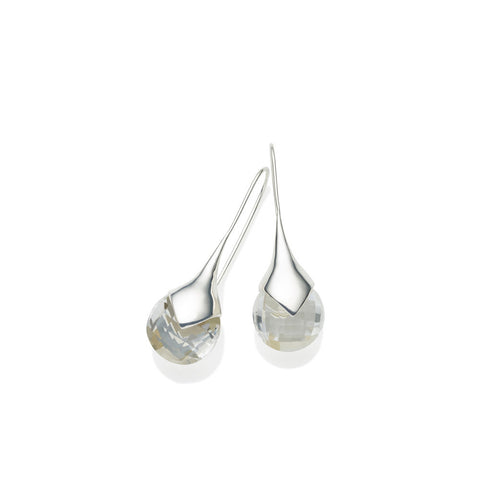 pushmataaha 'masai' earrings - sterling silver & faceted crystal