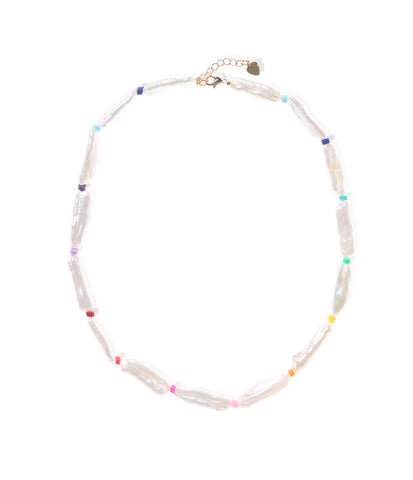 Carly Paiker Pinata Stick Pearl Necklace