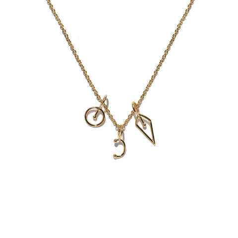 Aletheia & Phos Proxigean Glyph Necklace - Gold
