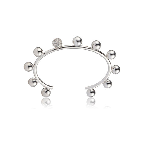 sarina suriano luceat pave bangle - rhodium