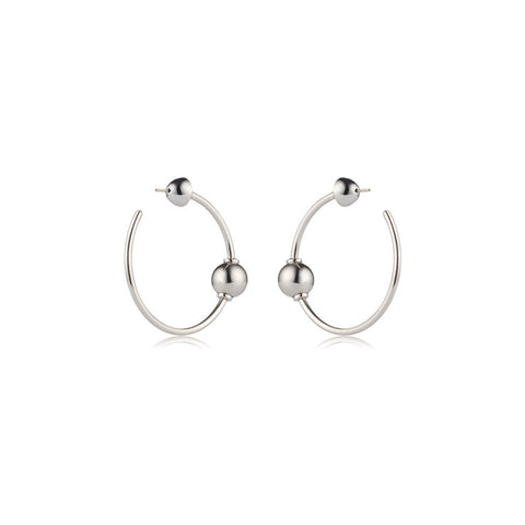 sarina suriano mars circulus earrings - rhodium