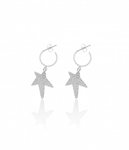 Carly Paiker Siren Star Hoops - Silver