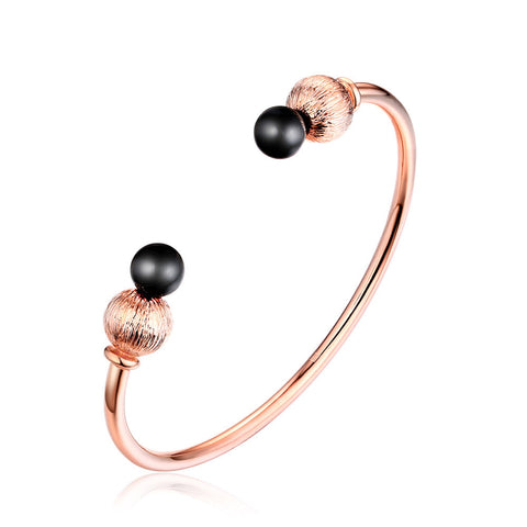 F+H Jewellery 'tyra' sphere + gemstone cuff - 18K rose gold