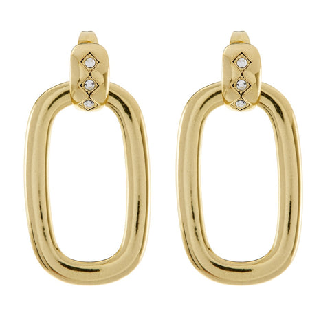 LUV AJ Evil Eye Door Knocker Hoops - Gold