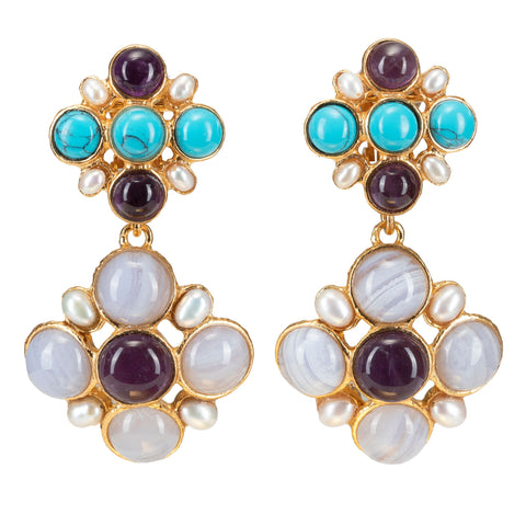Christie Nicolaides Guinevere Earrings - Amethyst