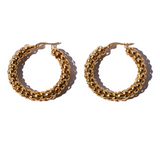 Brie Leon Large Pebble Hoops