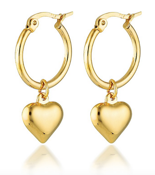 Cendre Cupid Heart Hoop Earrings