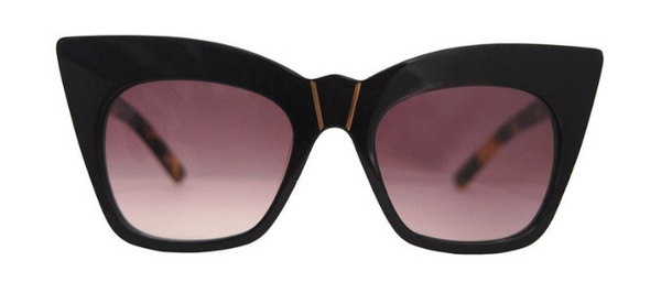 pared eyewear 'kohl & kaftans' sunglasses - black/stormy tortoise