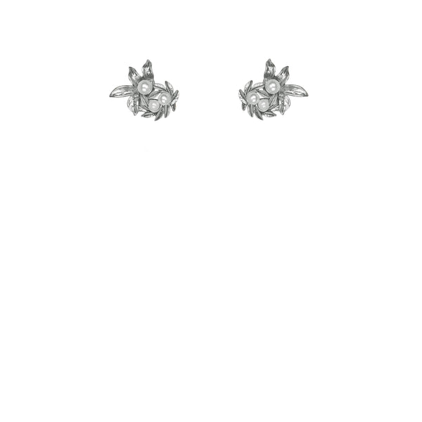 Kitte Island Luxe Stud Earrings - Silver