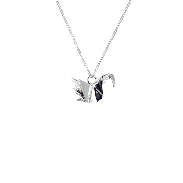 claire naa origami jewellery - 'silver swan'