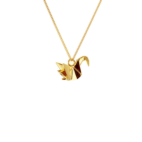 claire naa origami jewellery - 'gold swan'