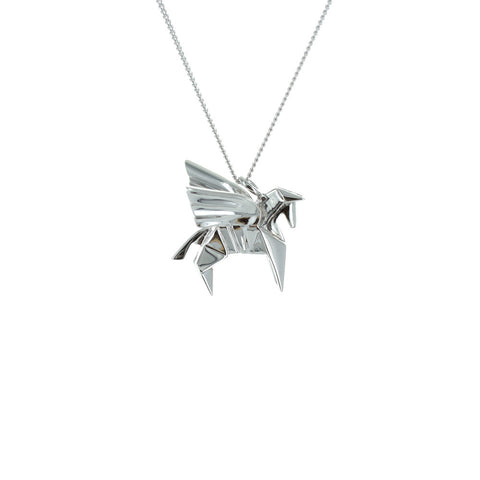 claire naa origami jewellery - 'silver pegasus'