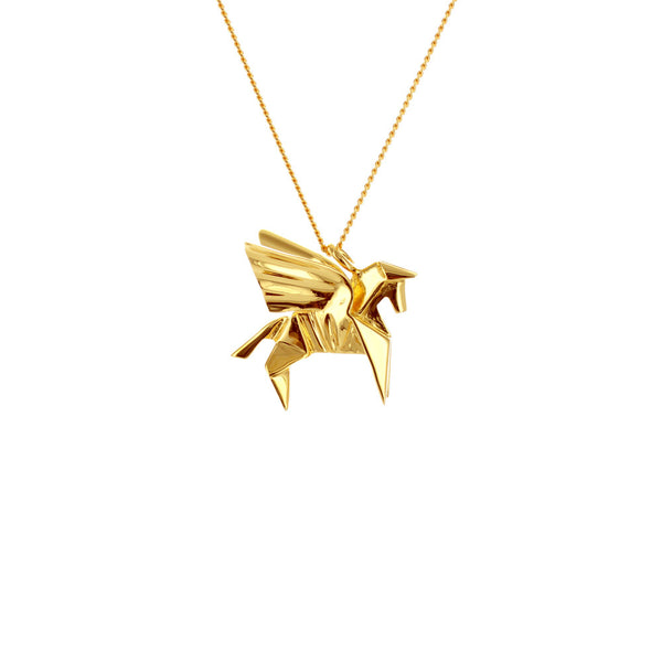 claire naa origami jewellery - 'gold pegasus'
