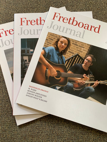 Fretboard Journal Subscription Drive: Print Subscription, Shirt & Strings