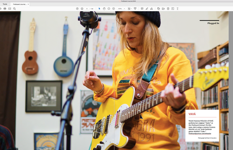 Fretboard Journal Subscription Drive: Digital Subscription, Shirt & Strings