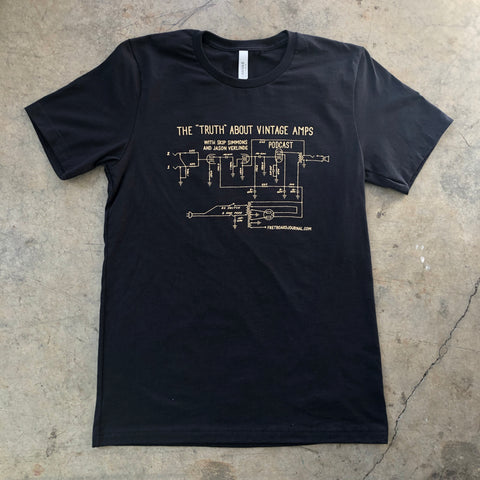 Truth About Vintage Amps Schematic Shirt (Shipping Included)