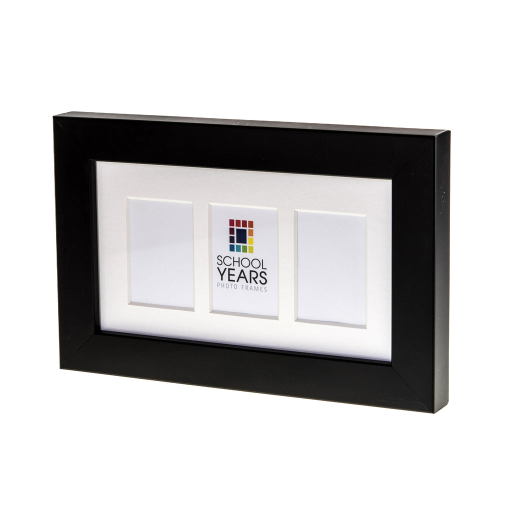 Mini School Years Frame - Triple (Black, White & Oak)