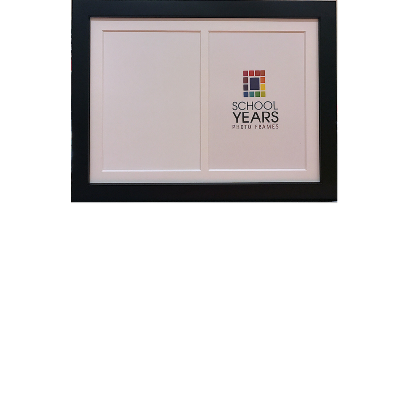 Portrait Frame - Double (available in Black, White & Oak) - School ...
