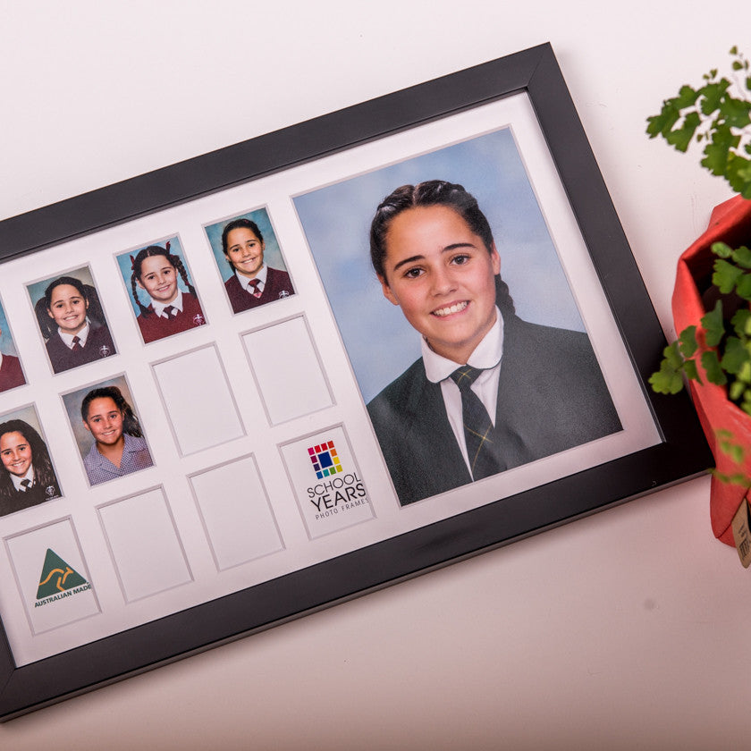 Medium School Years Frame - Black - School Years Photo Frames