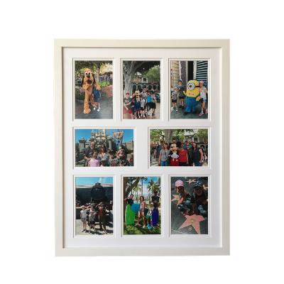 "Deluxe Gallery Frame - 8 x 6x4"" Photos (Black, White & Oak)"