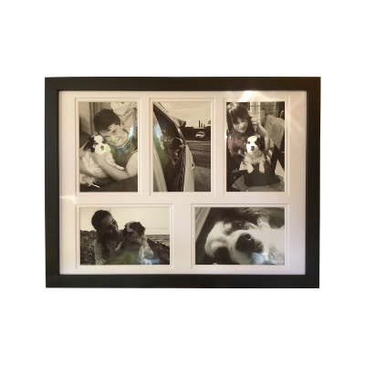 "Deluxe Gallery Frame - 5 x 6x4"" Photos (Black, White & Oak)"