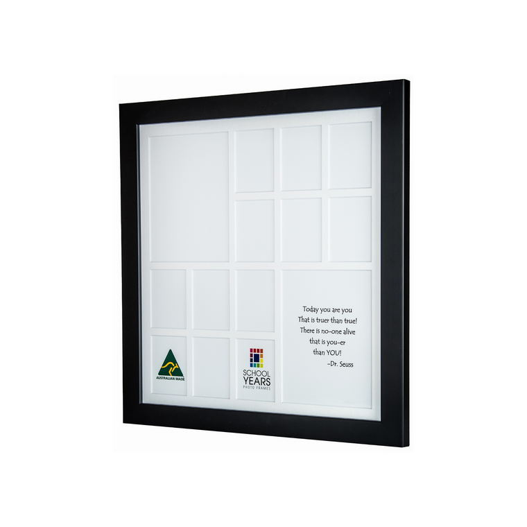 Large School Years Frame (with Pre-School) - Black