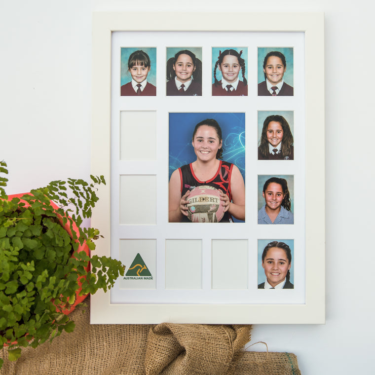 Large School Years Frame - White
