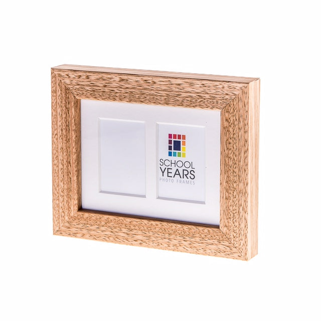 Mini School Years Frame - Double (Black, White & Oak)
