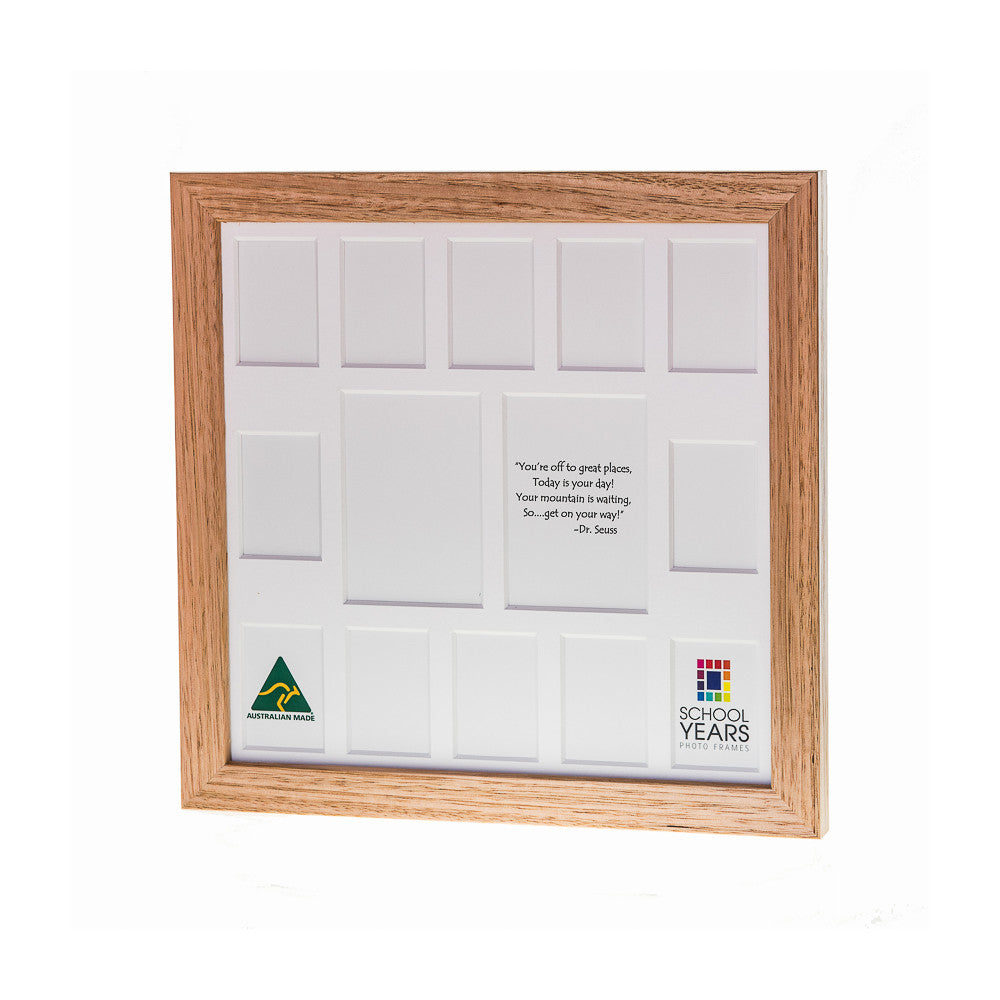 Signature School Years Frame (with Pre-School) - Oak