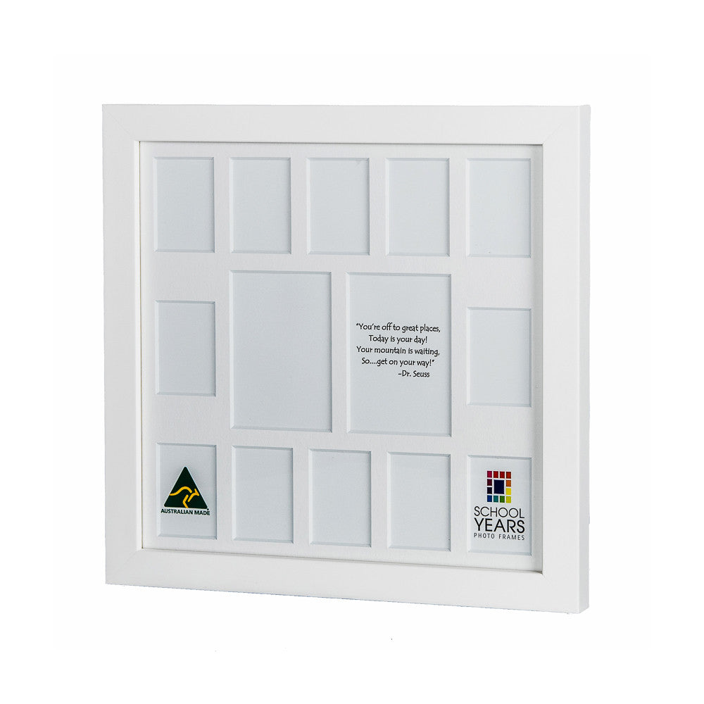 Signature School Years Frame (with Pre-School) - White