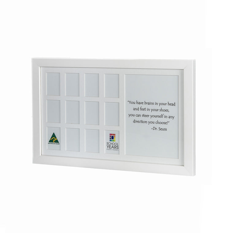 Medium School Years Frame - White
