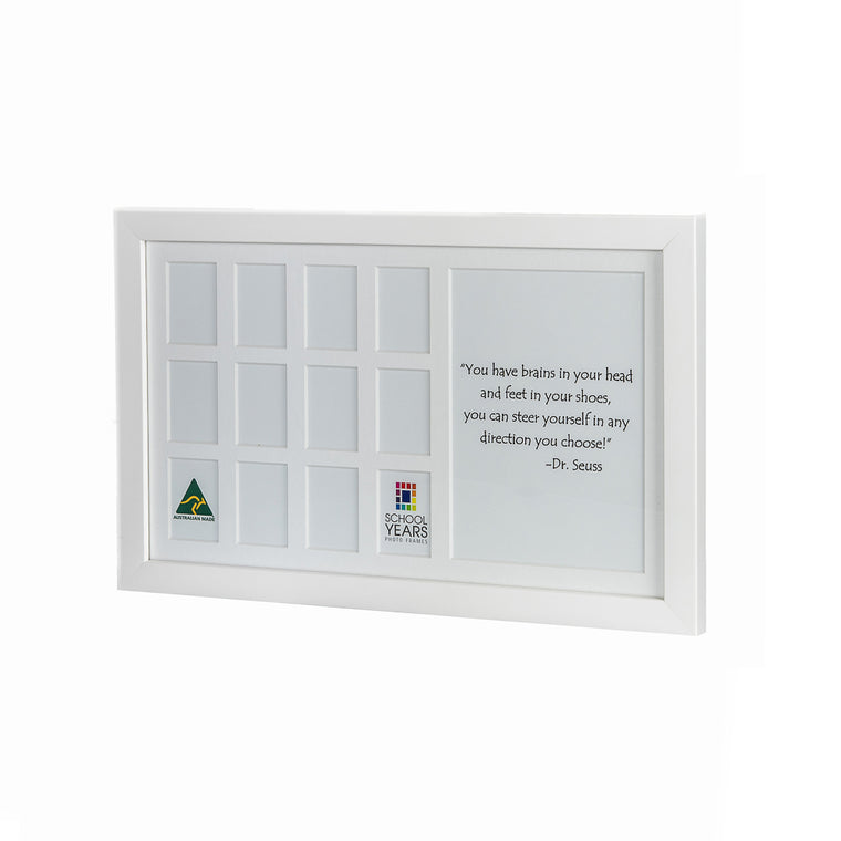 IMPERFECT - Medium School Years Frame - White