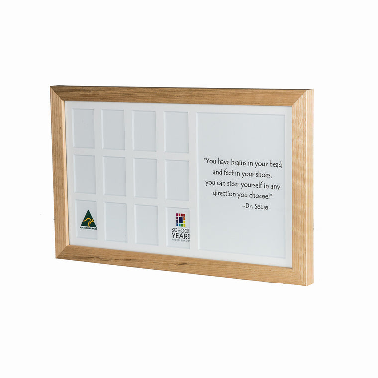 Medium School Years Frame - Oak