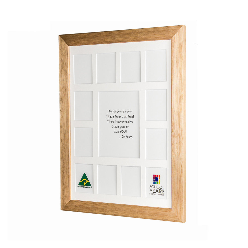Large School Years Frame - Oak