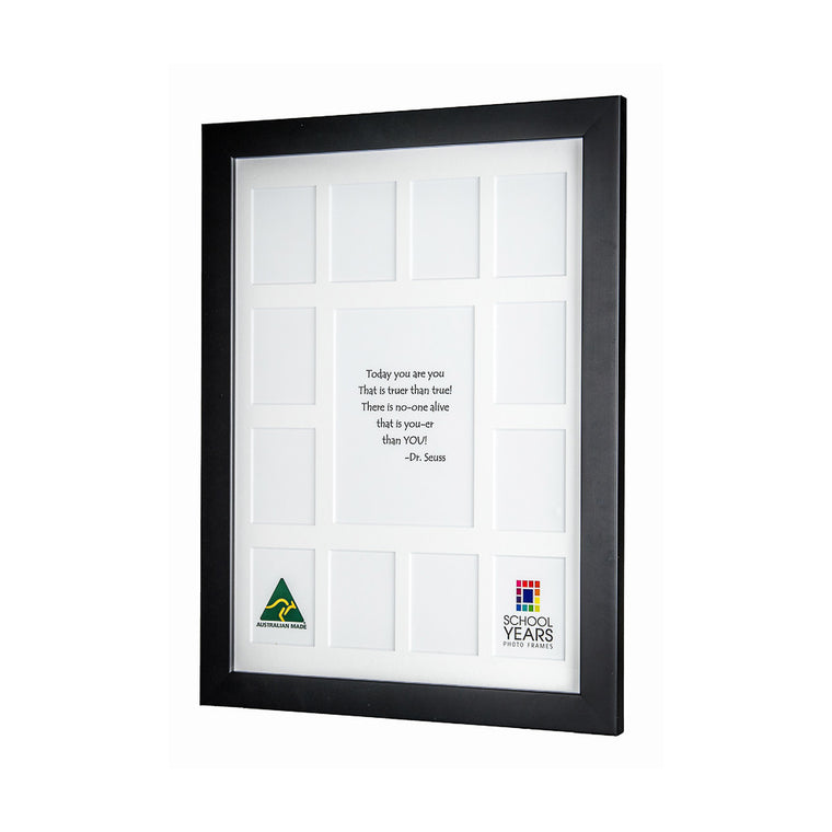 Large School Years Frame - Black