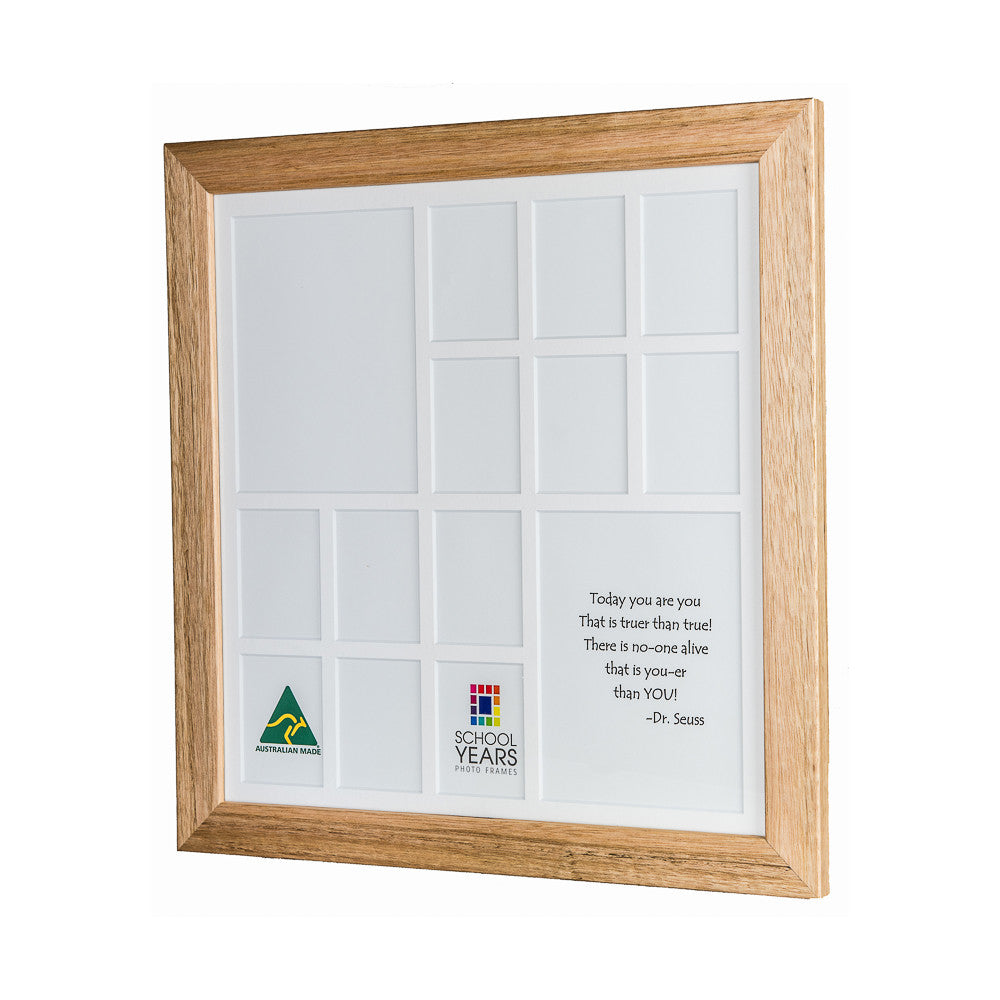 Large School Years Frame (with Pre-School) - Oak - School Years ...