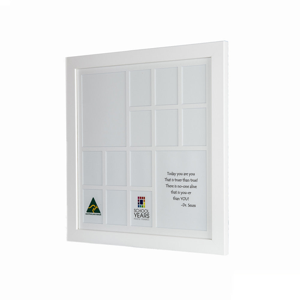 Large School Years Frame (with Pre-School) - White - School Years ...
