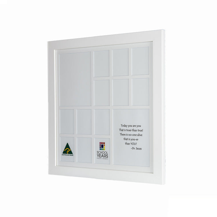 Large School Years Frame (with Pre-School) - White