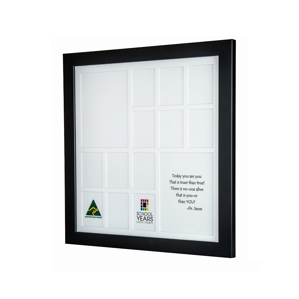 IMPERFECT -  Large School Years Frame (with Pre-School) - Black