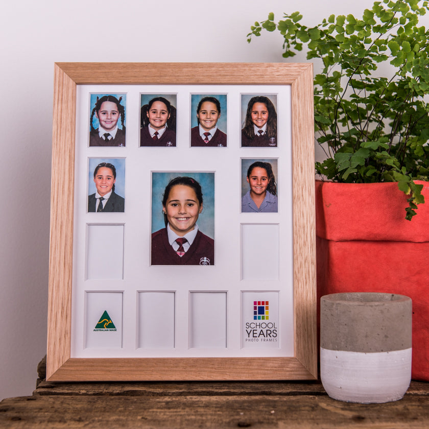 Signature School Years Frame - Oak - School Years Photo Frames