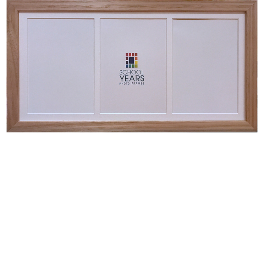 Portrait Frame - Triple (available in Black, White & Oak)