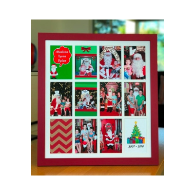 Large Christmas Frame (Red, Black & White)