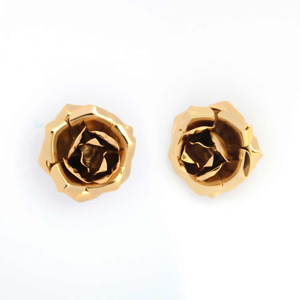 GRANDE ROSA CLIP ON EARRINGS