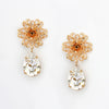 MARIA FILIGREE ROSE DROP PIERCED EARRING