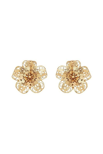LES FLEURS SMALL FILIGREE EARRINGS