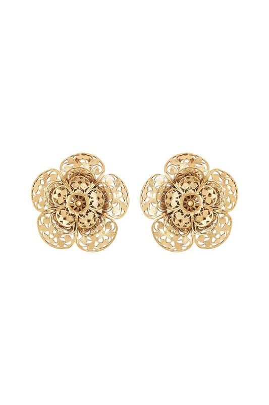 LES FLEURS LARGE FILIGREE EARRINGS