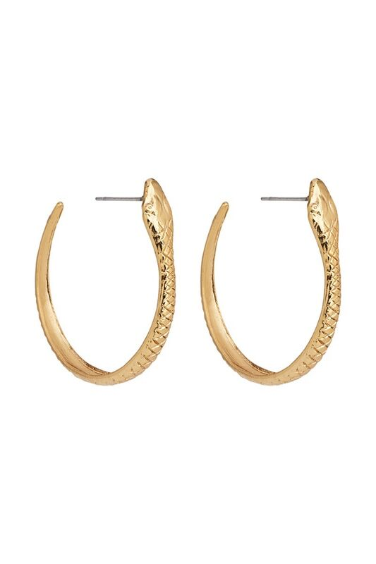 SERPENT HOOP EARRINGS