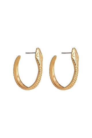 SERPENT HOOP EARRINGS - S, M, L